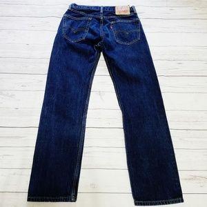 Levi's Jeans - Levi's   Classic Straight Leg 505 Dark Wash Jeans